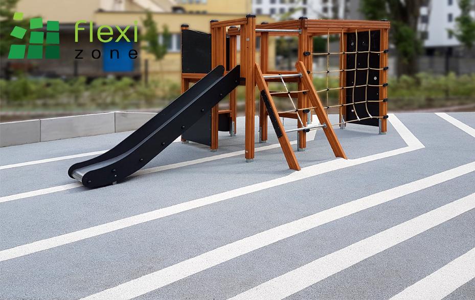 elastyczna nawierzchnia wylewana jako podłoże pod plac zabaw